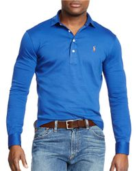 Polo Ralph Lauren | Blue Pima Soft-touch Shirt for Men | Lyst