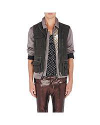 Haider Ackermann - Gray Men's Pique Military Vest for Men - Lyst