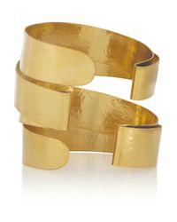 Herve Van Der Straeten - Metallic Hammered Gold-Plated Cuff - Lyst