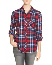 Beach Lunch Lounge | Blue Plaid One Pocket Shirt | Lyst