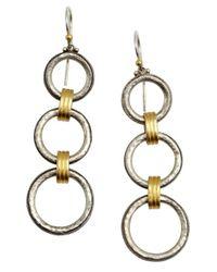 Gurhan | Metallic Silver 'hoopla' Triple Drop Earrings | Lyst