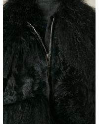 Sacai | Black Fur Trimmed Vest | Lyst