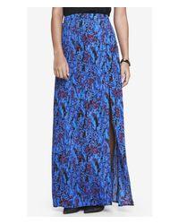 Express - Blue High Waisted Crepe Maxi Skirt - Lyst
