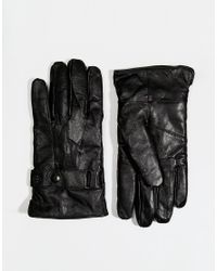 Minimum | Black Leather Gloves for Men | Lyst