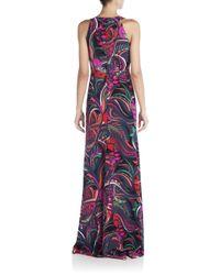 Emilio Pucci - Pink Printed Silk Halter Gown - Lyst
