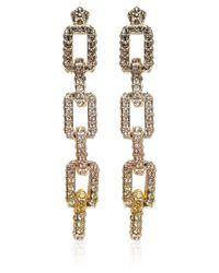 Eddie Borgo | Metallic Goldplated Pave Supra Link Earrings | Lyst