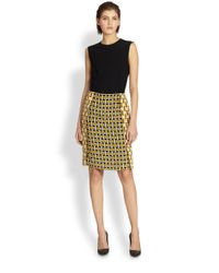 Fendi | Yellow Intreccio Print Dress | Lyst