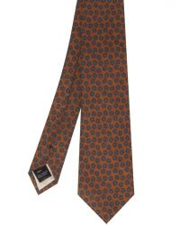 Jules B - Brown Wool Floral Tie for Men - Lyst