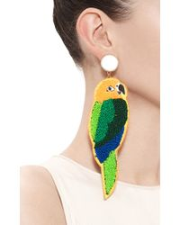 Masterpeace | Green Parrot Earrings | Lyst