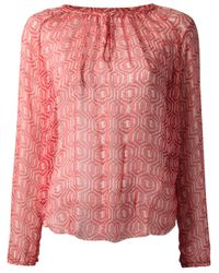 Étoile Isabel Marant | Red Printed Blouse | Lyst