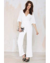 Nasty Gal - White Lovers And Friends Star Gazer Jumpsuit - Lyst