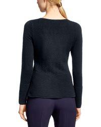 HUGO - Blue Sweater In Cotton Blend: 'sashar' - Lyst