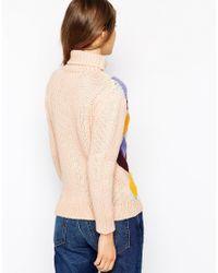 Ganni - Multicolor Long Sleeve Rollneck Sweater - Lyst