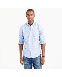 J.Crew | Blue Slim Vintage Oxford Shirt With Embroidered St. Bernards for Men | Lyst