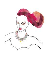 Shourouk | Multicolor Madison Jumble Necklace | Lyst
