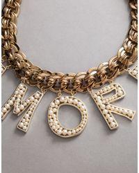 "Dolce & Gabbana - Metallic ""amore"" Necklace - Lyst"