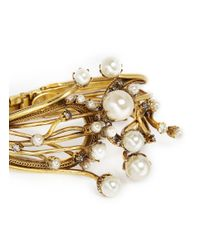 Erickson Beamon | Metallic 'stratosphere' Pearl Crystal Branch Cuff | Lyst