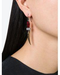 Iosselliani | Red 'geometric Floral' Earrings | Lyst