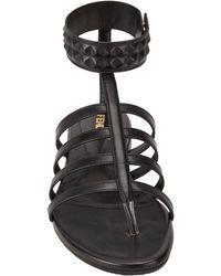 Fendi - Black Diana Studded Gladiator Sandals - Lyst