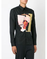 Givenchy - Black Icon Print Shirt for Men - Lyst