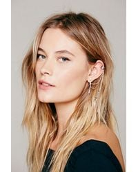 Free People - Metallic Womens Cuff To Post Earring - Lyst