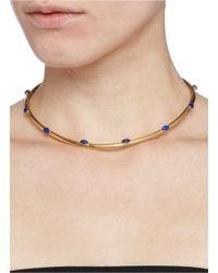 Ela Stone | Blue 'jenny' Lapis Stone Torque Necklace | Lyst