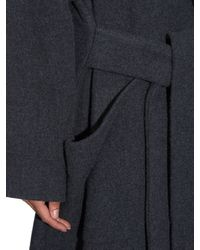 Raey - Gray Cashmere And Wool-Blend Blanket Coat - Lyst