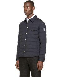 Moncler Gamme Bleu | Blue Navy Shirt Jacket for Men | Lyst