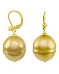 Majorica | Metallic Organic Man-made Baroque Pearl | Lyst