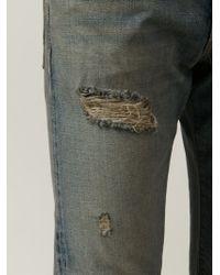 Simon Miller - Blue Distressed Slim Fit Jeans for Men - Lyst