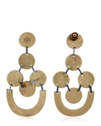 Tory Burch | Metallic Gold Plated Chandelier Earrings | Lyst