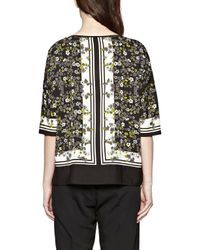 Great Plains - Gray Window Box Printed Top - Lyst
