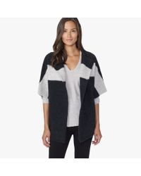 James Perse | Gray Wool Blend Stripe Cardigan | Lyst