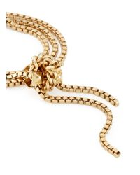 Ela Stone - Metallic 'patti' Knot Box Chain Bracelet - Lyst