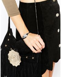 ASOS | Metallic Art Deco Cuff Bracelet | Lyst