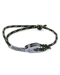 Anchor & Crew - All Black Rothesay Rope Bracelet for Men - Lyst