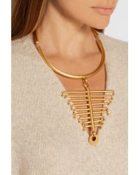 Paula Mendoza - Metallic The Backbone Gold-plated Necklace - Lyst