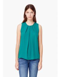 Mango | Green Flowy Top | Lyst