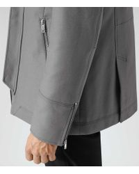 Reiss - Gray Raekon Twill Technical Jacket for Men - Lyst