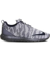 Nike | Gray Roshe Run Woven Trainers for Men | Lyst