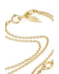 Diane von Furstenberg | Metallic Gold Plated Necklace - Gold | Lyst