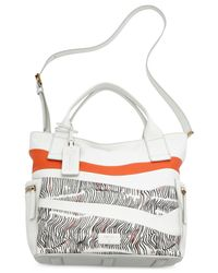 Fossil - White Emerson Leather Patchwork Satchel - Lyst