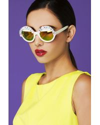 Rad & Refined - Natural Can't Tell Me Nothing Bead & Rose Cream Sunglasses - Lyst