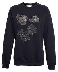 MSGM | Gray Mirrored Applique Sweatshirt | Lyst