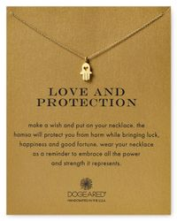 Dogeared | Metallic Love & Protection Hamsa Necklace, 18"