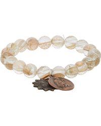 Miracle Icons | Metallic Goldstone Charm Bracelet for Men | Lyst
