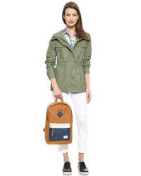 Herschel Supply Co. - Brown Heritage Mid Volume Backpack - Caramel/Navy/Natural - Lyst