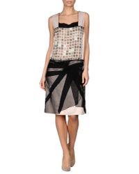Bottega Veneta | Black Knee-Length Dress | Lyst