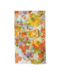 Pink Pony - White Catalina Floral Scarf - Lyst