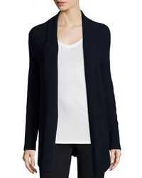 Vince - Blue Directional-rib Cashmere-blend Cardigan - Lyst